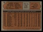 1972 Topps #782  Larry Stahl  Back Thumbnail