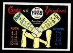 1970 Fleer World Series #25   -  Babe Ruth  / Lou Gehrig 1928 Yankees vs. Cardinals   Front Thumbnail