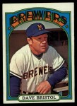 1972 Topps #602  Dave Bristol  Front Thumbnail