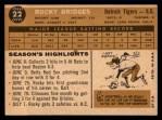 1960 Topps #22  Rocky Bridges  Back Thumbnail