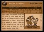 1960 Topps #201  Larry Osborne  Back Thumbnail