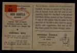 1954 Bowman #66  Robert Bob Hantla  Back Thumbnail