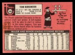 1969 Topps #558  Tom Burgmeier  Back Thumbnail