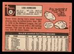 1969 Topps #367  Lou Johnson  Back Thumbnail