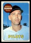 1969 Topps #301  Darrell Brandon  Front Thumbnail