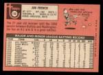 1969 Topps #199  Jim French  Back Thumbnail