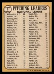 1968 Topps #9   -  Jim Bunning / Ferguson Jenkins / Mike McCormick / Claude Osteen NL Pitching Leaders Back Thumbnail