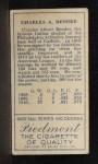 1911 T205 #17  Chief Bender  Back Thumbnail