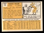 1963 Topps #185 ^COR^ Chuck Hiller  Back Thumbnail