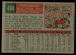 1959 Topps #484  Willie Kirkland  Back Thumbnail