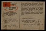 1954 Bowman #31  Ray Wietecha  Back Thumbnail