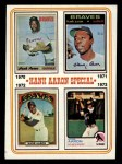 1974 Topps #6   -  Hank Aaron Special 1970-73 Front Thumbnail