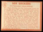 1964 Topps #182   -  Carl Yastrzemski / Chuck Schilling Sox Sockers Back Thumbnail