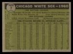 1961 Topps #7 *WHI*  White Sox Team Back Thumbnail