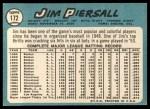 1965 Topps #172  Jimmy Piersall  Back Thumbnail