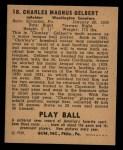 1940 Play Ball #18  Charley Gelbert  Back Thumbnail