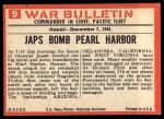 1965 Philadelphia War Bulletin #9   Day of Infamy Back Thumbnail