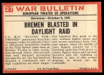 1965 Philadelphia War Bulletin #27   Bombs Away! Back Thumbnail