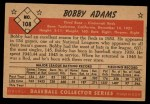 1953 Bowman #108  Bobby Adams  Back Thumbnail