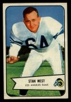 1954 Bowman #103  Stan West  Front Thumbnail