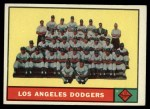1961 Topps #86   Dodgers Team Front Thumbnail