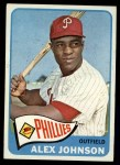 1965 Topps #352  Alex Johnson  Front Thumbnail