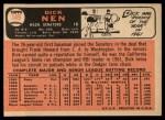 1966 Topps #149  Dick Nen  Back Thumbnail