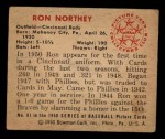 1950 Bowman #81  Ron Northey  Back Thumbnail