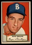 1952 Topps #7 RED Wayne Terwilliger  Front Thumbnail