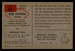 1954 Bowman #65  Dick Chapman  Back Thumbnail