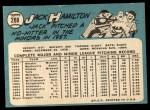 1965 Topps #288  Jack Hamilton  Back Thumbnail