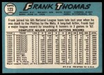 1965 Topps #123  Frank Thomas  Back Thumbnail