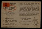 1954 Bowman #28  John Sandusky  Back Thumbnail