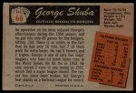 1955 Bowman #66  George Shuba  Back Thumbnail