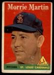 1958 Topps #53 ^WN^ Morrie Martin  Front Thumbnail