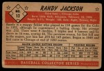 1953 Bowman B&W #12  Randy Jackson  Back Thumbnail