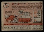 1958 Topps #102  George Strickland  Back Thumbnail