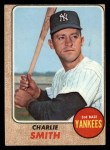 1968 Topps #596  Charlie Smith  Front Thumbnail