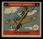 1941 W.S. Corp Defending America #228   Navy Dive Bomber Front Thumbnail
