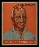 1933 Goudey Indian Gum #167  Kishkalwa   Front Thumbnail