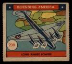 1941 W.S. Corp Defending America #230   Long Range Bomber Front Thumbnail