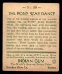 1933 Goudey Indian Gum #80   The Pony War Dance  Back Thumbnail