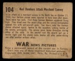 1939 Gum Inc. War News Pictures #104   Nazi Bombers Attack Merchant Convoy Back Thumbnail