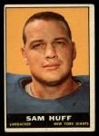 1961 Topps #91  Sam Huff  Front Thumbnail
