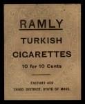 1909 T204 Ramly #55  Dick Hoblitzell   Back Thumbnail