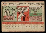 1956 Topps #120  Richie Ashburn  Back Thumbnail