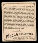 1910 T218 Champions #148 BOX Johnny Summers  Back Thumbnail