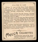 1910 T218 Champions #33  Walter Lee  Back Thumbnail