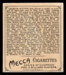 1910 T218 Champions #90 PLY George Sutton  Back Thumbnail