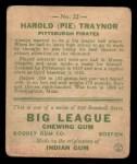 1933 Goudey #22  Pie Traynor  Back Thumbnail